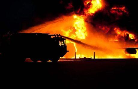 שריפה בחנות חלפים מוכרת 📸