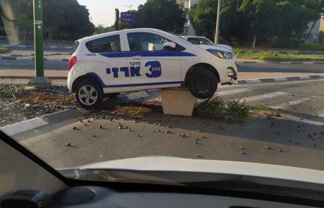 הרכב שנחת על עציץ 📸