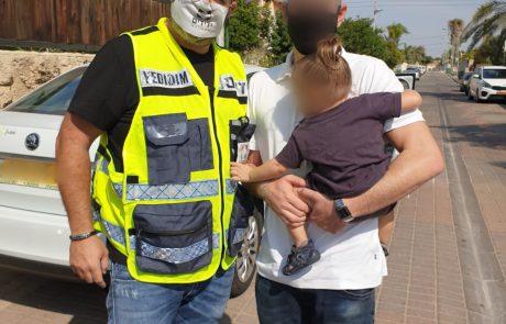 אפרידר: פעוט ננעל ברכב 📸