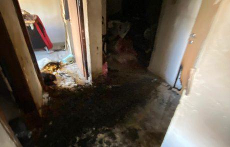 שריפה בדירה מפוצלת בעתיקות